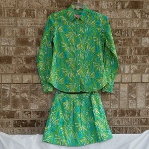 Lilly Pulitzer Skirt Set Skirt Size 4/Top Size 10